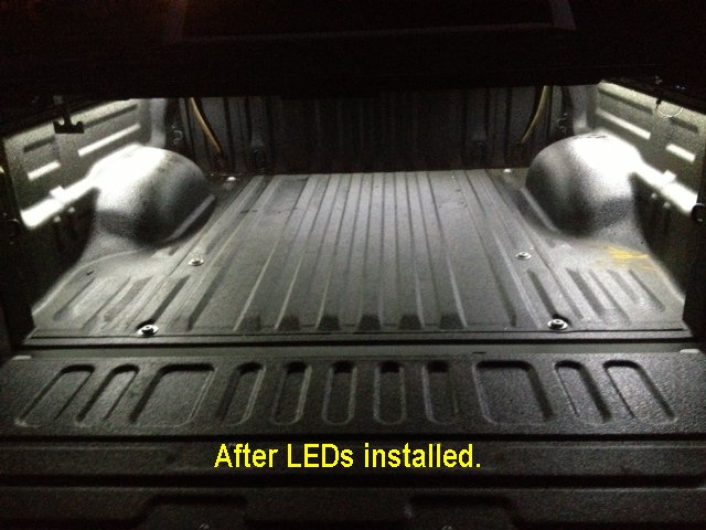 Installing LED lighting in the truck bed